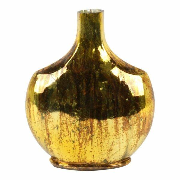 Vase/Flasche 'Barock', Ø 16 cm, old gold / copper