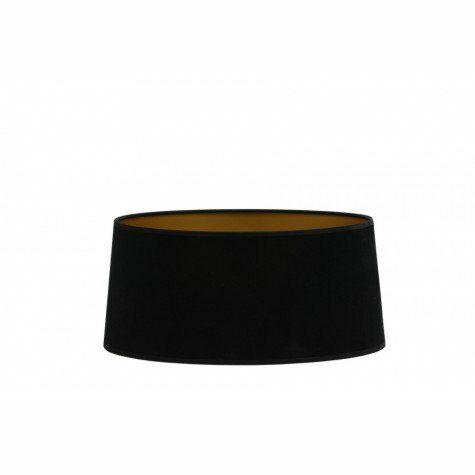 Lampenschirm, oval, 35x32x16 cm VELOURS blackgold