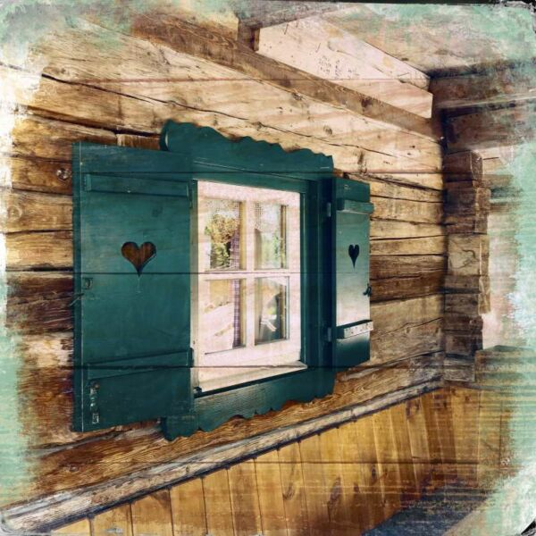 Fototafel, Fenster Grawa Alm
