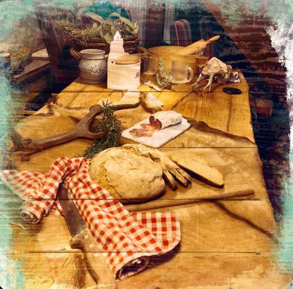 Fototafel, Bauernvesper in Ingolsheim