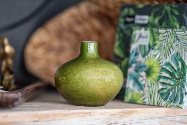 Vase ZZING, bauchig, grün