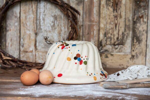 Kougelhopf,  ø 22 cm, blanc, 'Pastilles Folles'