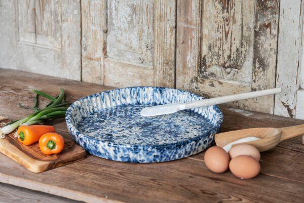 Plat moule à tarte,  ø 32 cm, bleu, 'Balai'