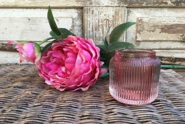 Windlicht 'Marla', rosa