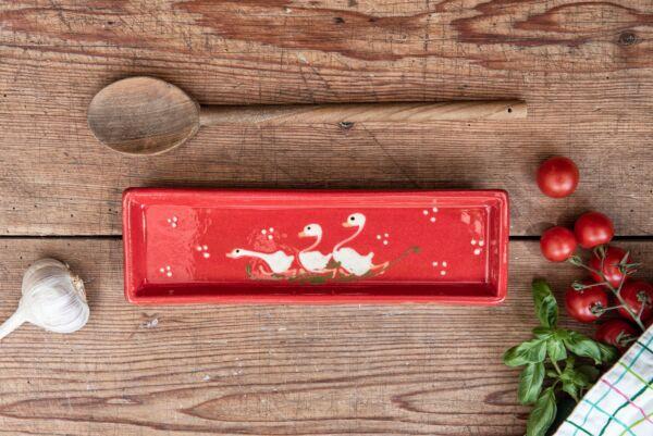 Schale für Kochlöffel LAUFENTE, rot