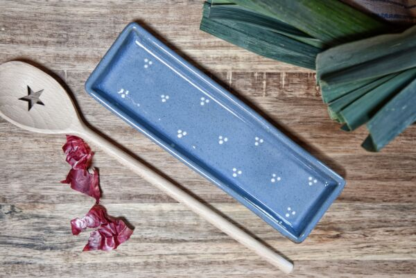 Lèche cuillère, bleu clair, 'Plumetis'