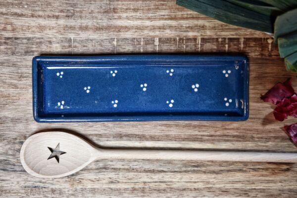 Lèche cuillère, bleu, 'Plumetis'