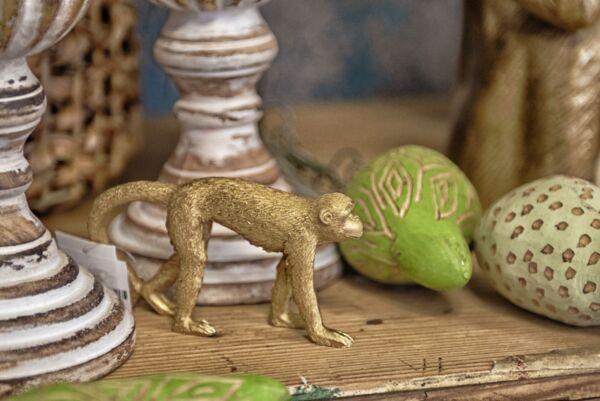 Deko-Affe 'Monkey', gold