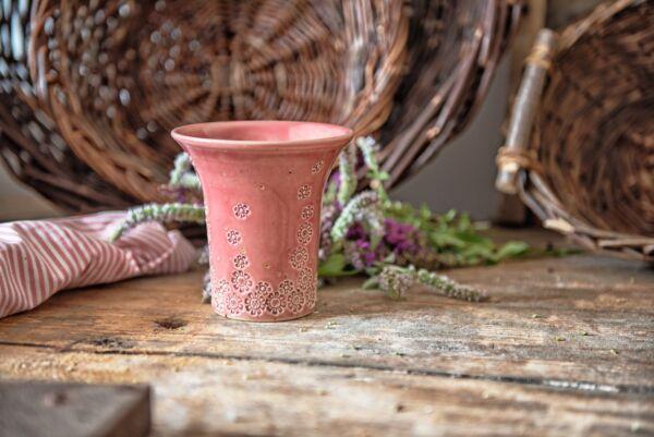 Vase mit Blumenmuster, rosa