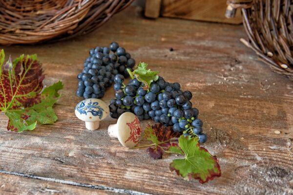 Flaschenverschluss mit blauem Muster