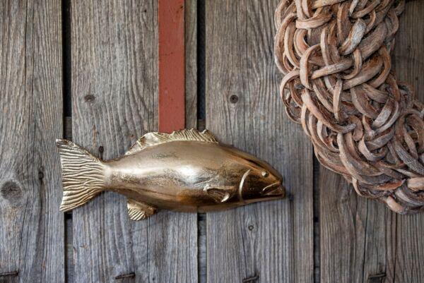 Dekorativer Fisch Donner, bronze