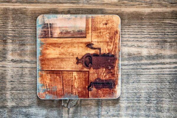 Holzpostkarte 'Hereinspaziert'