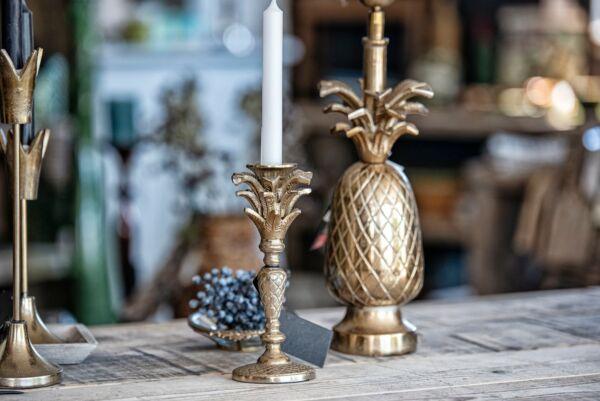 Kerzenhalter PINEAPPLE, bronze