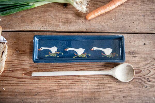 Schale für Kochlöffel LAUFENTE lang, blau