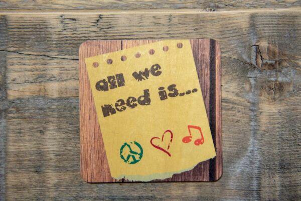 Holzpostkarte 'All you need'
