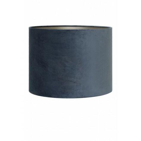 Lampenschirm VELOURS,Zylinder, 25-25-18 cm,  dunkelblau