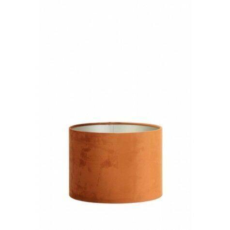 Lampenschirm VELOURS, Zylinder, 30x30x21 cm, terra