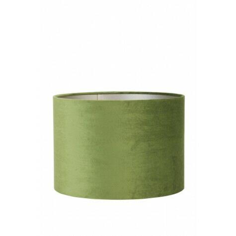 Lampenschirm VELOURS, Zylinder, 35x35x30 cm, olive