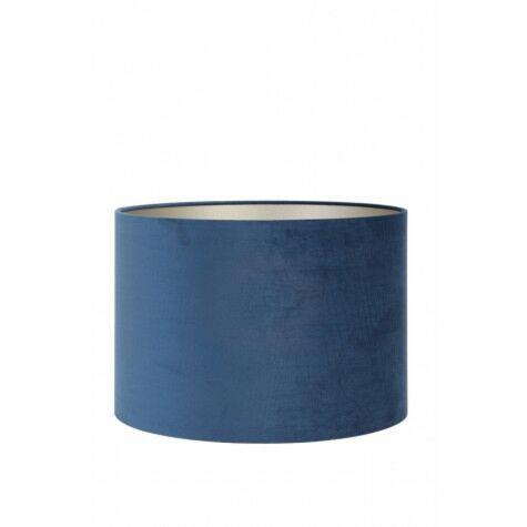 Lampenschirm VELOURS, Zylinder, 40x40x30 cm, petrol