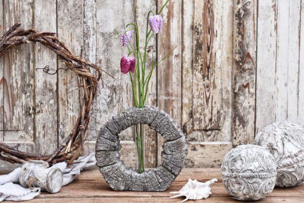 Vase 'Baumrinde', Ø 20 cm