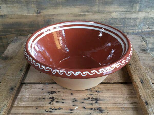 Teigschüssel aus Elsässer Keramik, optimal zur Herstellung von Hefeteigen geeignet