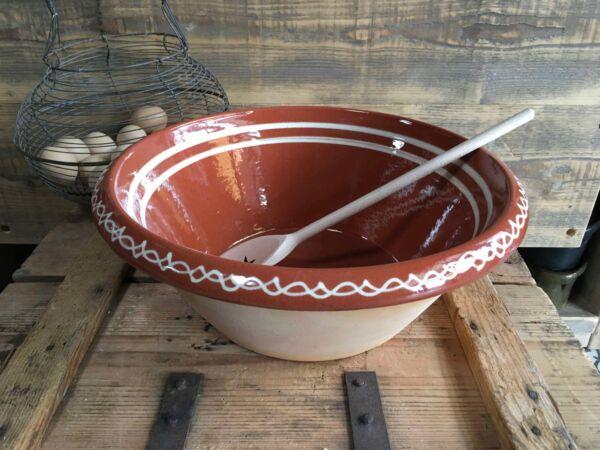 Original r Teigschüssel aus Elsässer Ton in 37 cm Umfang, optimal zur Herstellung von Rühr- und Hefeteigen