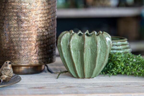 Vase WAVE, Größe M, grün