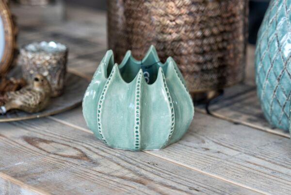 Vase WAVE, grün, 15x15x14 cm