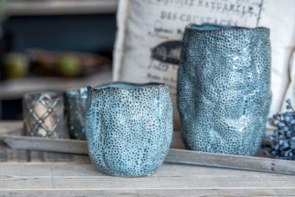 Vase MODERN ART, blau/grau