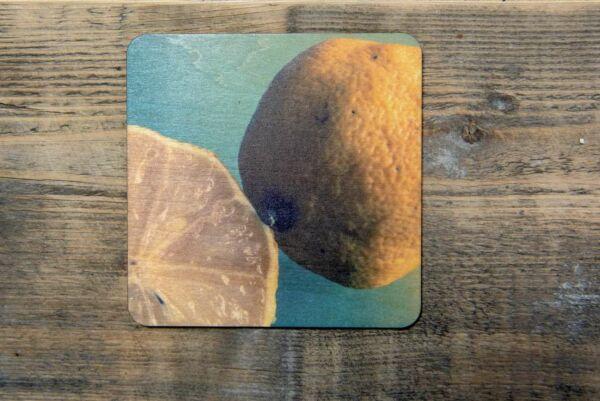 Holzpostkarte 'Zitrone'