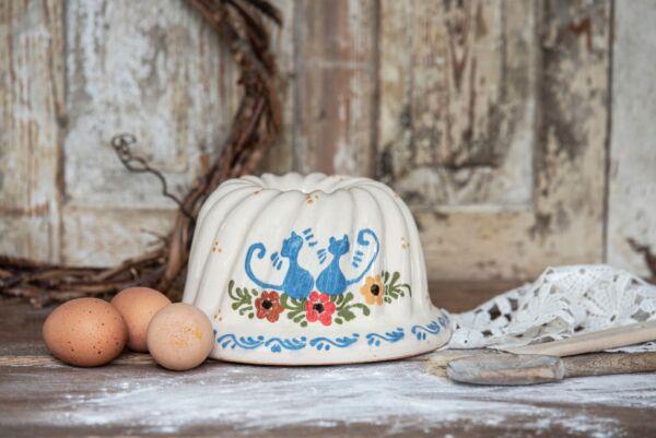 Kougelhopf, ø 20 cm, blanc, 'Chats'