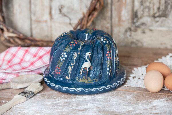 Kougelhopf, ø 20 cm, bleu, 'Cigogne'