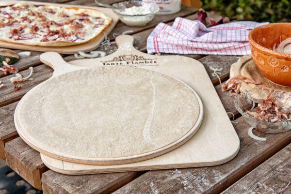 Flammkuchenboden, traditionelle Rezeptur, rund, 5 Stück