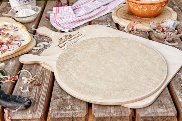 Flammkuchenboden, traditionelle Rezeptur, rund - 50 Stück, 5er gepackt