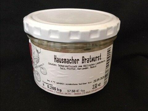 Weisbrods Pfälzer Bratwurst