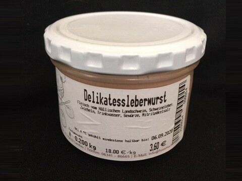 Weisbrods Delikatessleberwurst