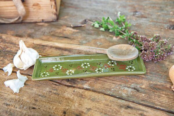 Lèche cuillère, vert, 'Petites Fleurs Zig Zag'