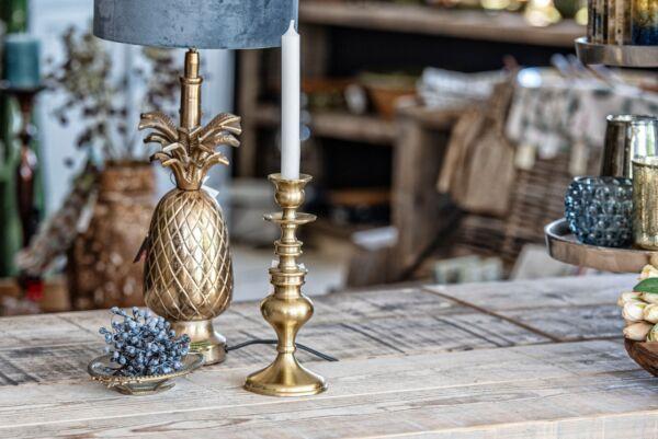 Kerzenhalter SPOLETO, mattgold