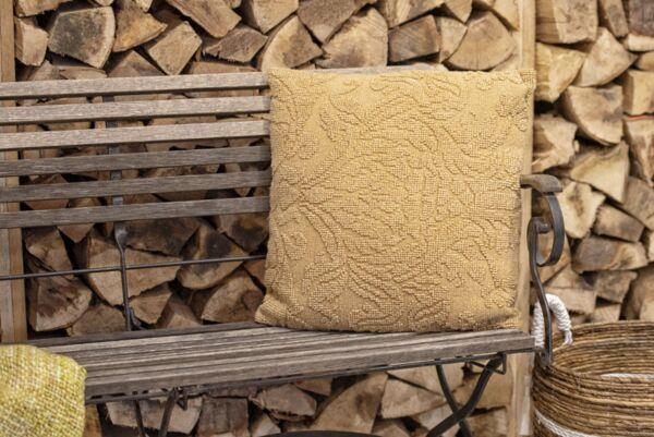 Kissen DOGASI stonewashed, ocker, 50x50 cm
