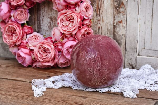 Keramik-Kugel, Ø 19 cm, altrosé
