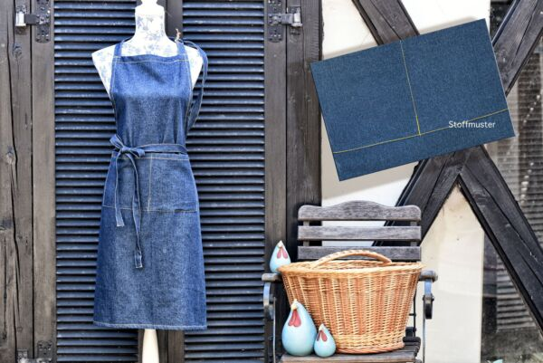Schürze 'Jeans', blau