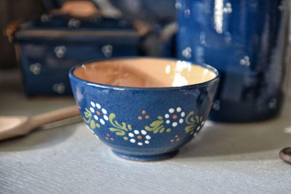 Bol, ø 12 cm, bleu, 'Petites Fleurs Zig Zag '