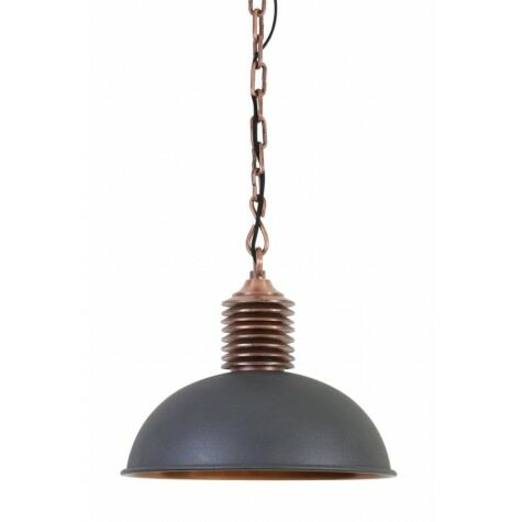 Haengeleuchte AMELY, Ø40x36 cm, grau/antique kupfer