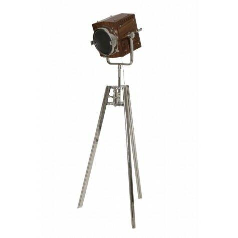 Stehleuchte GEORGE, Dreifuss 72x42x183-200 cm, Holz