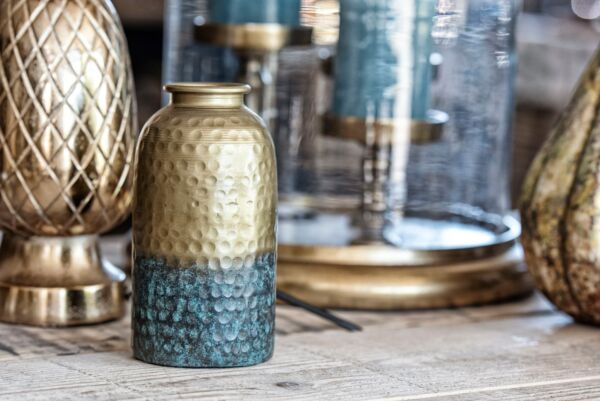 Metallvase PATINA, antique gold