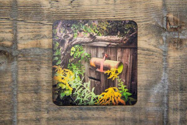 Holzpostkarte 'Gartentor in Heuchelheim'