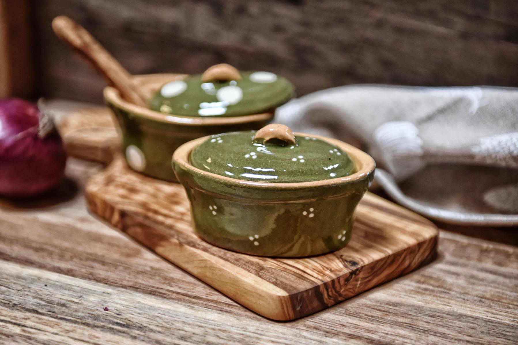 Schmalztöpfchen aus Elsässer Keramik